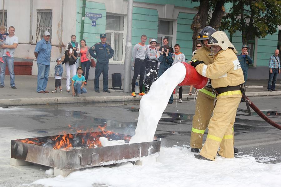 «Город огнеборцев» на Дне города сызрани 2015