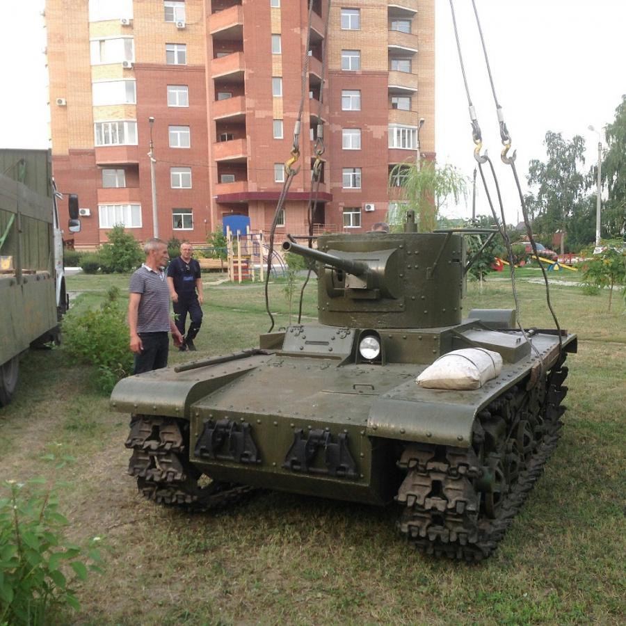 В Сызрани появился танк Т-26