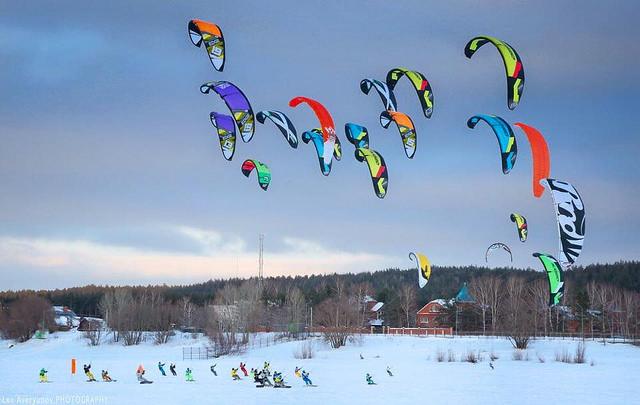 В начале марта под Сызранью пройдут соревнования по сноукайтингу